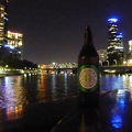 P1000941.JPG -- A big beer for a big man - in the middle of the Yarra River