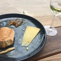 Photo 2014-12-18 11 28 03.jpg -- Chilling out along Melbourne's Yarra River - with Austrian Grüner Veltliner and local Australian cheese