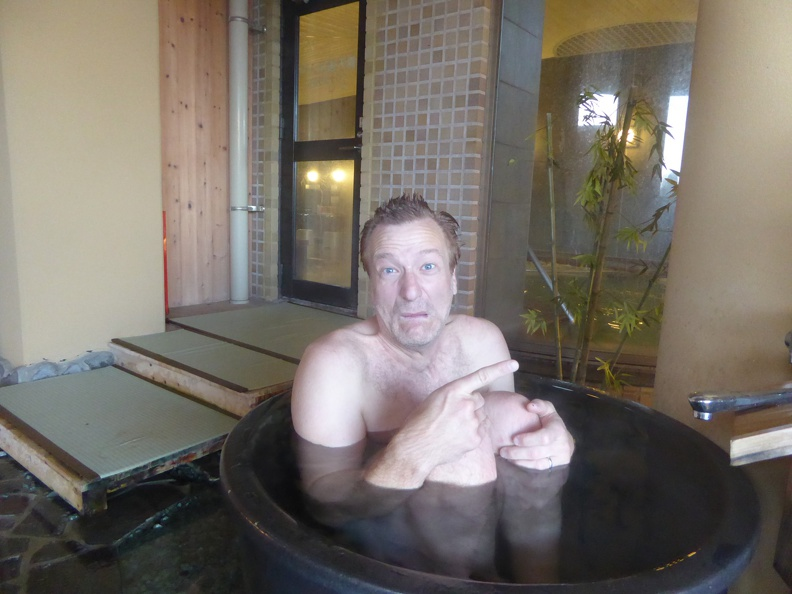 Onsen - in the cold water pool