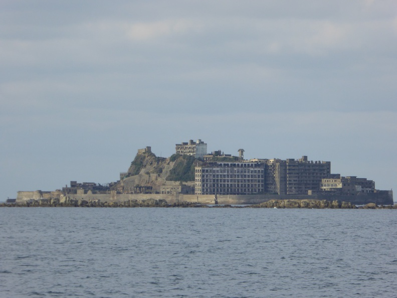 Gunkanjima - Battleship Island - inhabitated till 1974 for coal production