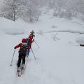 P1010500.JPG -- Immediately diving into deep snow