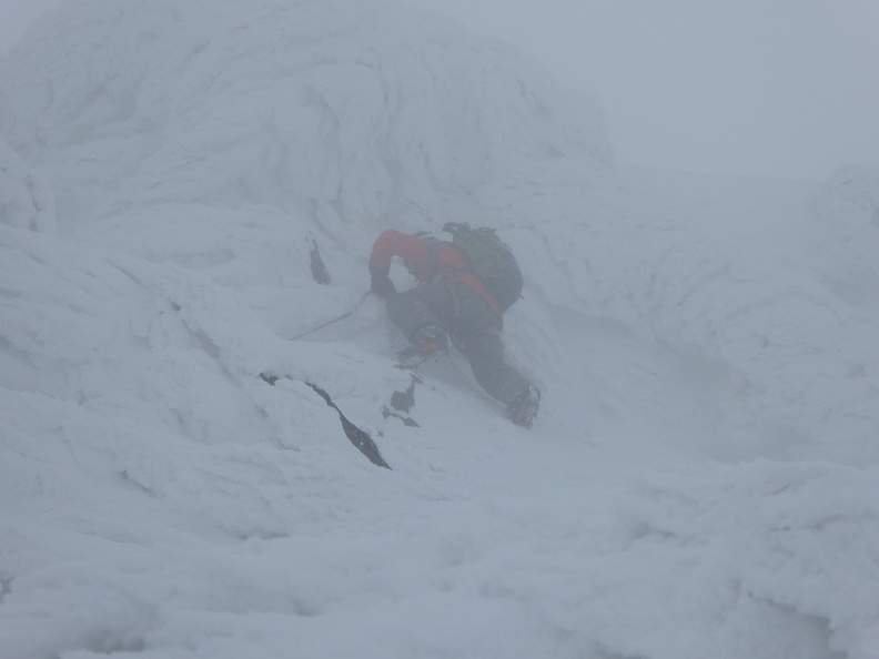 Winter climbing - not for the faint of heart