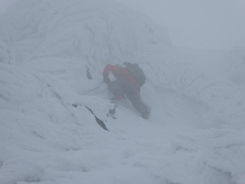 Winter climbing - not for the faint of heart