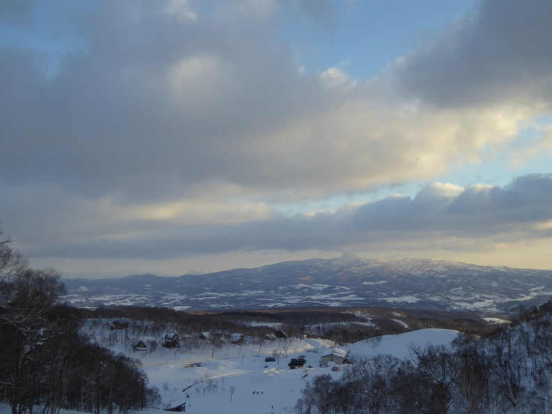 Later afternoon sun over Niseko
