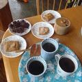 031.JPG -- Homemade Tochimochi, Anko, and coffee