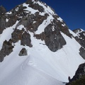 064.JPG -- The final ridge and buttress, some real climbing before reaching the top.