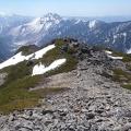 110.JPG -- Final descent from the 5. gendarm along the ridge.