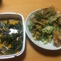 Photo 5-17-15, 7 49 43 PM.jpg -- Home-made dinner (parts of it) - Warabi and various Sansai leaf tempura