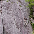 DSCF4295.jpg -- A route for small fingers: チャック - said to be 5.10a, but not for big-fingers like me