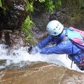 P1020459.JPG -- Getting wet in waterfall climbing