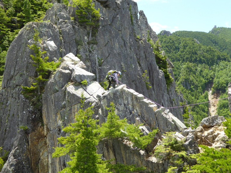 Masumi bravely did the first traverse of the ridge