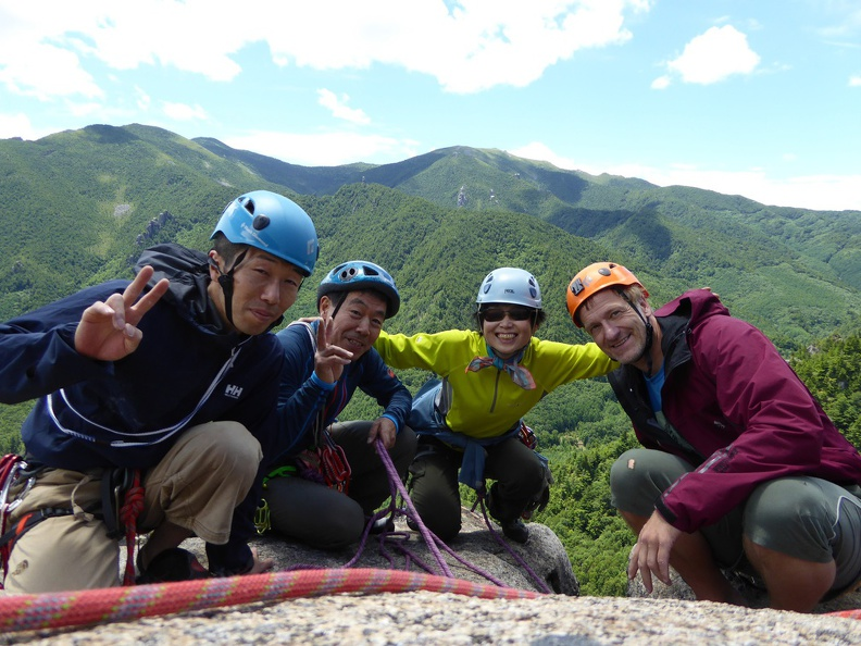Our group today, happy after a great climbing