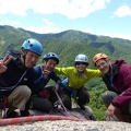 P1020664.JPG -- Our group today, happy after a great climbing