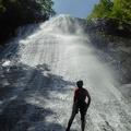 P1020712.JPG -- Last meters of rappeling the fall