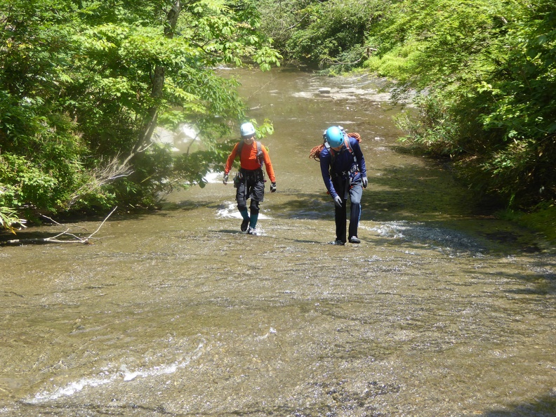 Enjoyable river walking