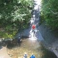088.JPG -- Enjoying a water slide - scary!!