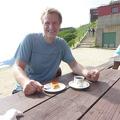 P1020913.JPG -- Enjoying a cake set at one of the huts