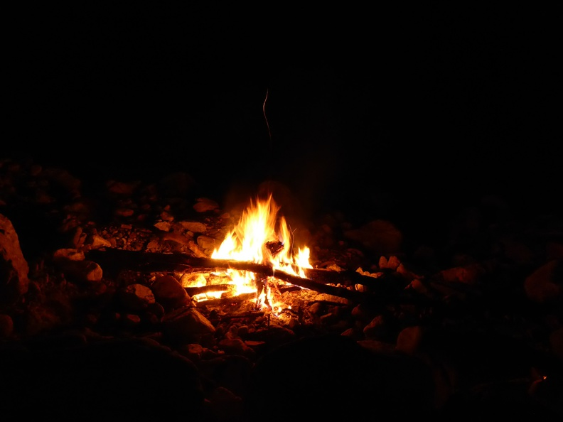 Enjoying the bonfire
