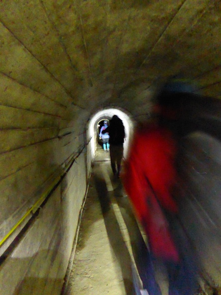 The long tunnel to the start of the Zakkoku-river