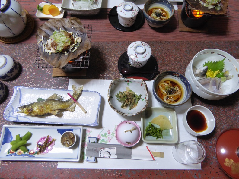 Dinner at the Ryokan - what a treat!