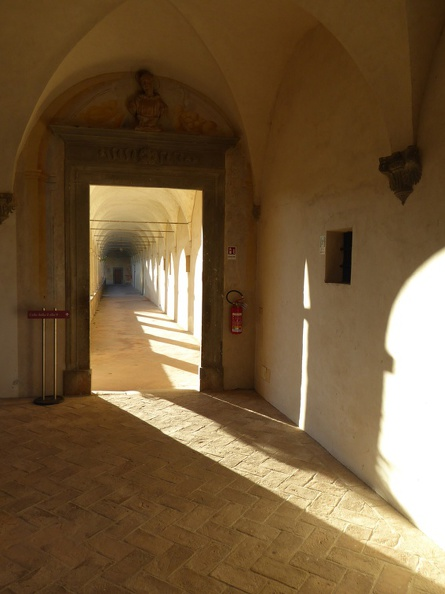 Corridors in the old monastery