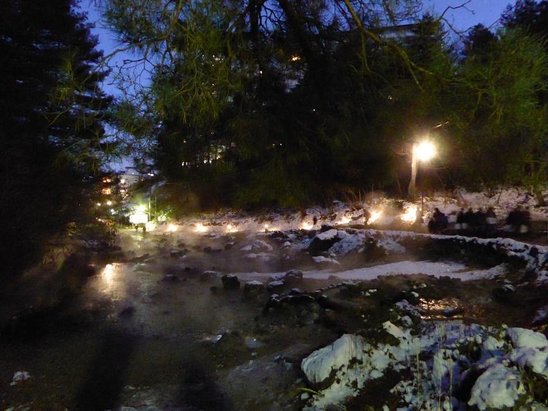 Night impression of the Sainokawara Park 西の河原公園