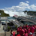 -- Boarding the boat just facing the American Falls
