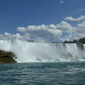 -- American falls from the boat
