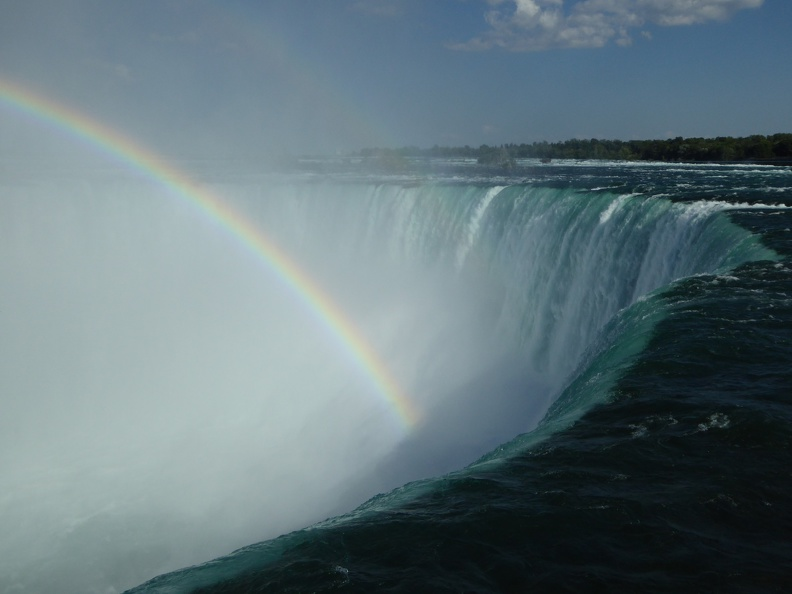 The amount of water running down the Horseshoe Falls is incredible