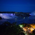 -- Night view onto Niagara falls