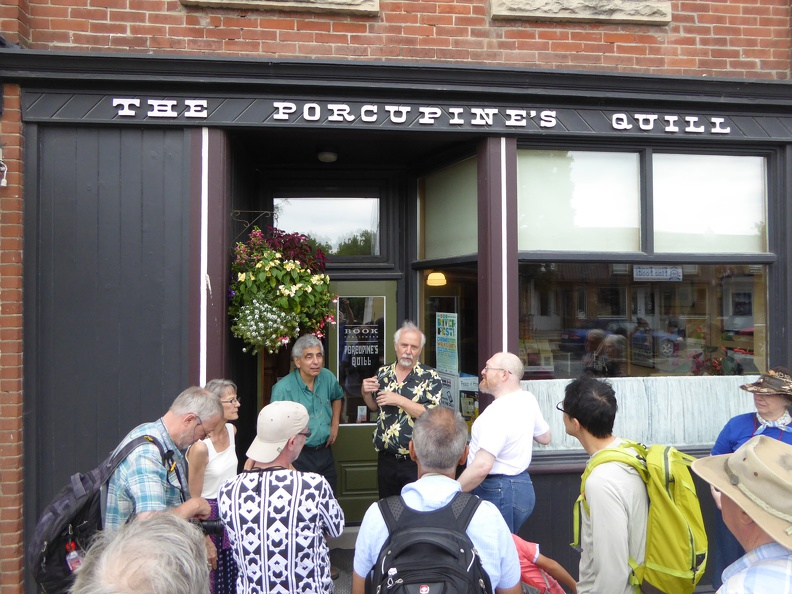 Entrance to the Porcupine's Quill, a local bookshop doing excellent printing