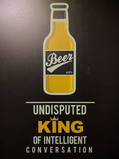 Nothing to add to this poster found in the Stone Hammer Brewery!