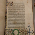 -- Illuminated script in Carolingian minuscule