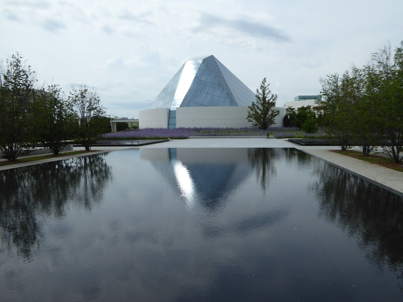 View onto the Ismaili Centre's Prayer Hall formed by a glass dome