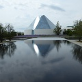 -- View onto the Ismaili Centre's Prayer Hall formed by a glass dome