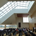 -- Explanation in one of the halls of the Ismaili Centre with its large skylight