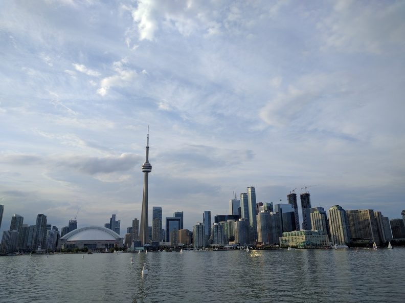 View onto Toronto from the boat