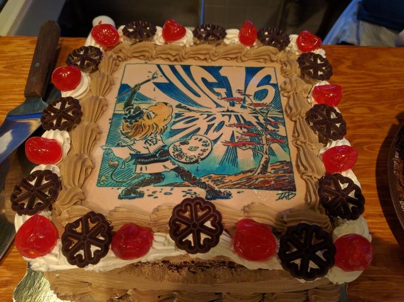 TUG 2016 cake