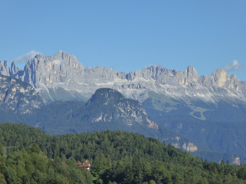 The beautiful mountains surrounding Bozen, looks like a perfect place to live.