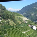 -- Returning to Bozen with the cable car, great views onto the vinyards and the moutains - what a perfect combination.