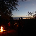 -- Fire warms up the cool evenings
