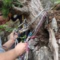 P6180170.JPG -- Preparing for rappel