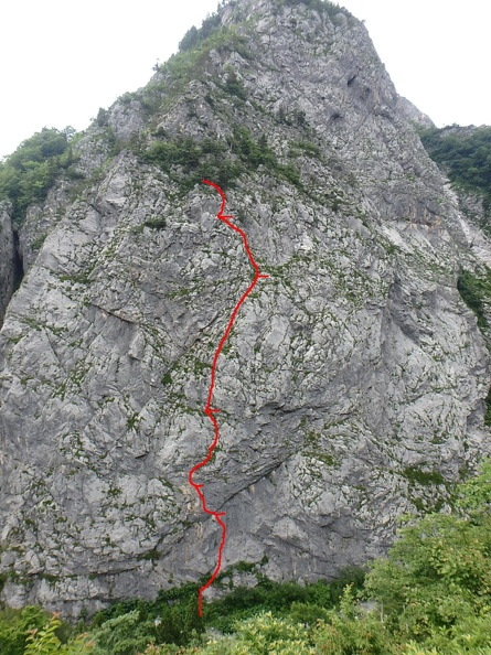 The route as we climbed it