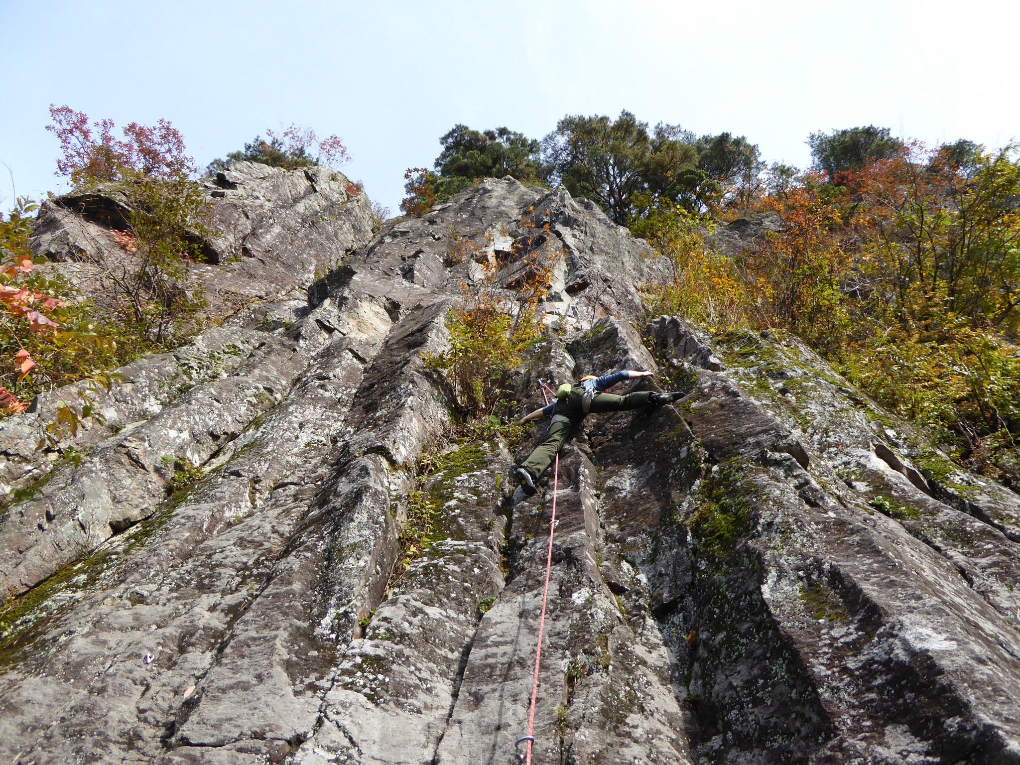 クライミング 福井県の黒岩