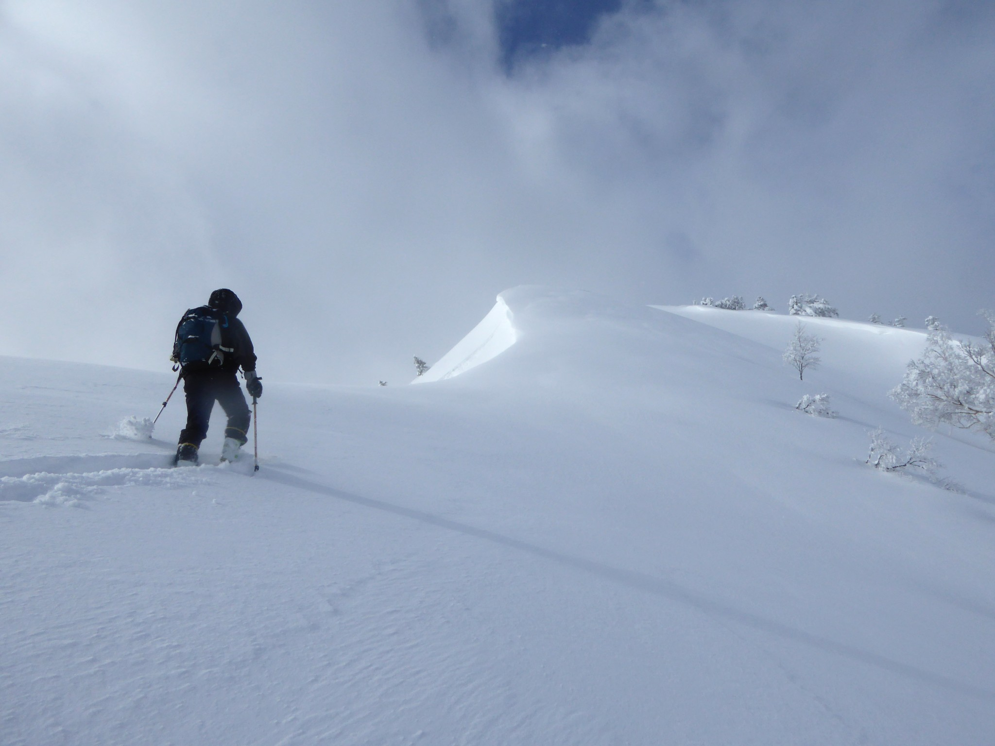 山スキー:三方岩岳