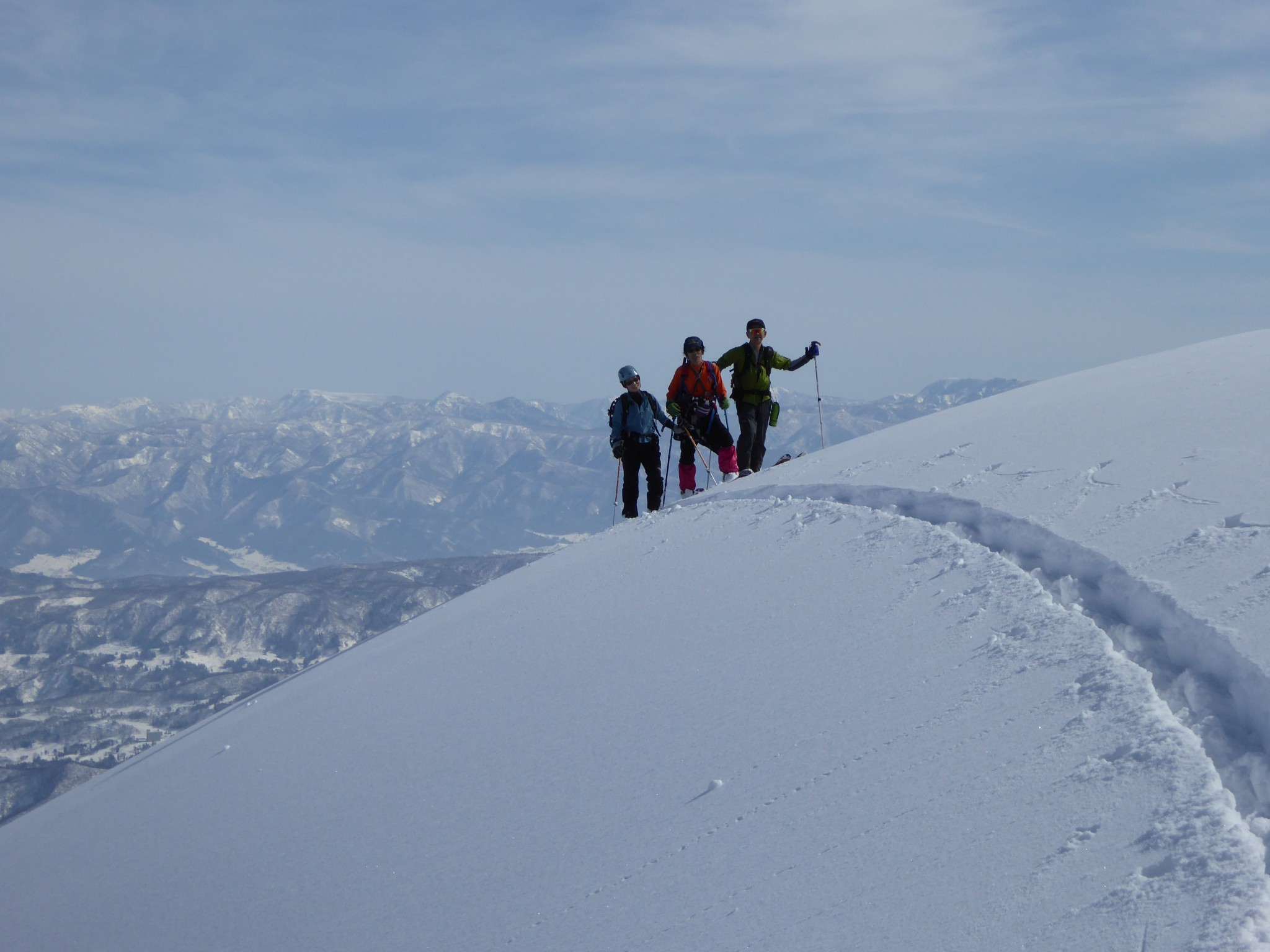 バックカントリー 神奈山 (Ski tour Mount Kanna)