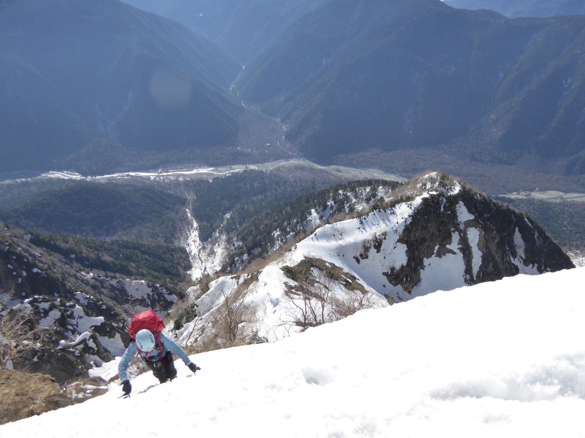 上高地の明神岳の東稜とトラバース (Myojindake E-ridge)