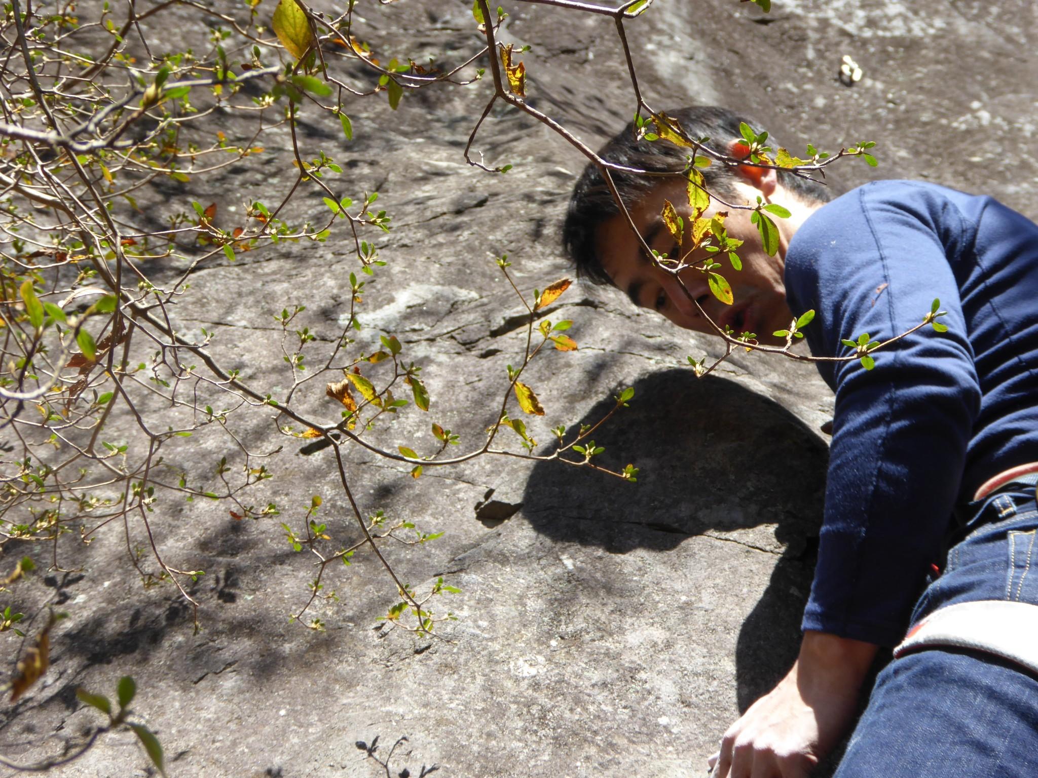 クライミング:群馬県の榛名山黒岩